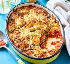 Courgette lasagne A classic veggie recipe that uses fresh, seasonal veg, is low calorie and bound to please the whole family Baked Pasta Recipes, Veggie Recipes, Vegetarian Recipes, Healthy Recipes, Vegetarian Dinners, Savoury Recipes, Savoury Dishes, Fruit Recipes, Veggie Lasagne