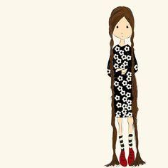 "169 curtidas, 7 comentários - Cecília Murgel Drawings (@ceciliamurgeldrawings) no Instagram: ""long hair ❤️#lembranças #tbt #longhair #desenho #ilustração #illustration #drawing #instaart…"""