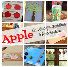 Apple Activities for Toddlers & Preschoolers