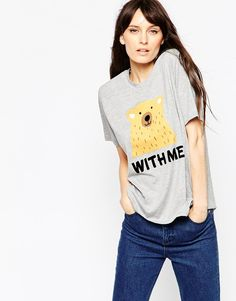Image 1 of ASOS T-Shirt With Bear With Me