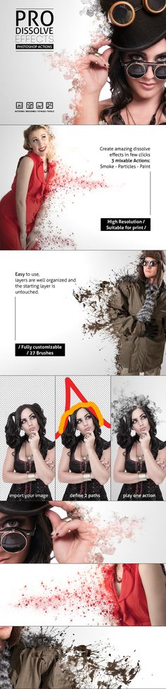 Pro Dissolve Effects - Photoshop Actions by NuwanP.deviantart.com on @DeviantArt