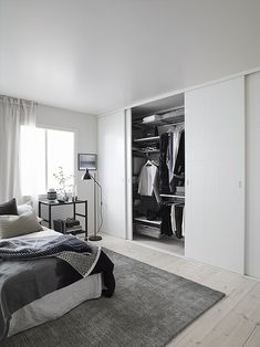 Beautiful First Apartment Bedroom Design Ideas, My apartment contains a living space, a dining space, a bedroom, a typical bath and a complete size kitchen with a balcony. Studio apartments are unco. Bedroom Closet Doors Sliding, Wardrobe Doors, Bedroom Wardrobe, Wardrobe Ideas, Sliding Doors, Bedroom Closets, Entry Doors, Barn Doors, Apartment Bedroom Decor
