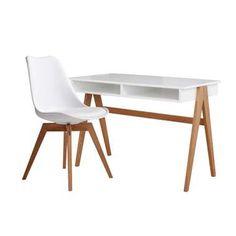 Bureau Sylt - wit eiken - 75x110x55 cm | Leen Bakker