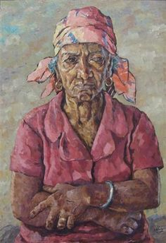 Untitled (Portrait) by Albert Huie. But love this picture all the same. Jamaican Art, Art Thomas, Caribbean Art, Painter Artist, Post Impressionism, Art Database, African American Art, Art Drawings Sketches, Beautiful Artwork