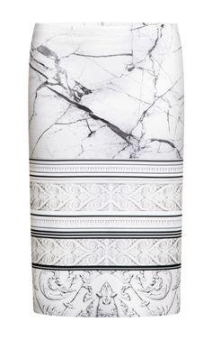 Printed Neoprene Skirt by Clover Canyon - Moda Operandi