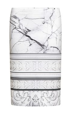 Clover Canyon marble print skirt