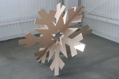 32in Giant Cardboard Snowflakes Set by MettaPrints on Etsy