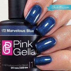 Pink Gellac Marvelous Blue - Fall 2015 Majestic Collection - Chickettes.com