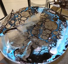 Boiled Glass Side Table made by guest artist Tom Cudmore