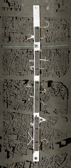 Cities are always divided by zoning. It is an interesting and artful way to connect them just by a large main street. Environmental Architecture, Plans Architecture, Architecture Drawings, Landscape Architecture, Architecture Design, Urban Design Concept, Urban Design Diagram, Urban Ideas, Architect Logo