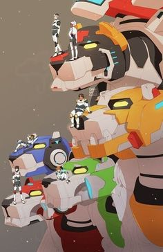 Voltron: the paladins+Allura and their lions Voltron Klance, Voltron Force, Voltron Fanart, Form Voltron, Voltron Ships, Voltron Paladins, Voltron Poster, Teen Titans, Fan Art