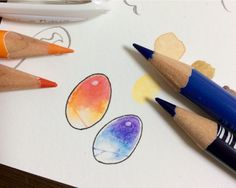 Step 4: Add highlights using white pen and extra lines to gems using watercolor pencils as you like