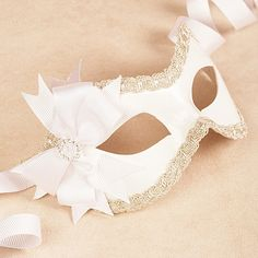 I will be using a mask for our Phantom of the Opera dinner in June!!!    Mia White/Silver masquerade mask /req37430 by partymask on Etsy, $68.00