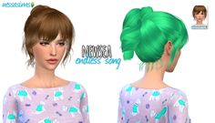 Nessa sims: Newsea`s Endless Song hairstyle retextured - Sims 4 Hairs - http://sims4hairs.com/nessa-sims-newseas-endless-song-hairstyle-retextured/