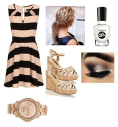 """""""Untitled #105"""" by ravekait ❤ liked on Polyvore featuring Girls On Film, Sally Hansen, Benefit, Juicy Couture, women's clothing, women's fashion, women, female, woman and misses"""