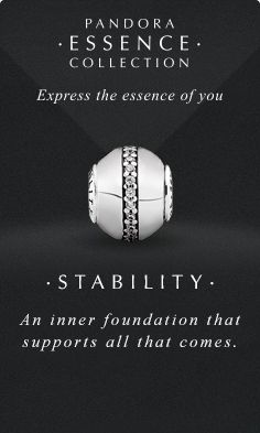 Express the essence of you. #PANDORAessencecollection #PANDORAcharm #Stability