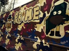 "Another PB food truck... I wouldn't mind the """"Salt on Salt on Salt"" (peanut butter, pickles and fritos).  Booom.  Camo-covered PB&ME Truck Launches to Bring Peanut Butter Sandwiches to Hipsters and Tough Guys Alike"