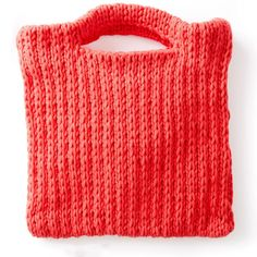 """Knitting pattern called """"That's My Bag, Baby."""" Calls for weight 5 yarn and size 11 knitting needles to produce an by bag. Size could be reduced with different yarn and needles! Bag Pattern Free, Bag Patterns To Sew, Tote Pattern, Baby Patterns, Knit Patterns, Beginner Knitting Patterns, Knitting Designs, Free Knitting, Knitting Needles"""