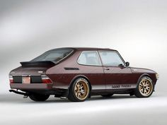 Saab Turbo with some really cool decals and wheels. Makes this old 900 look mean.