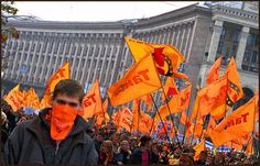Orange Revolution---Ukraine. After reports claiming that 2004 Ukrainian presidential election was rigged and fraudulent, people walked onto the streets in Kiev to protest against the corruption in election. They used sit-in and civil disobedience to pressure supreme court to organize a re-election. In December 2004, Viktor Yushchenko, the candidate who lost the corrupted election, won the re-election.
