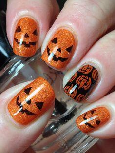 Canadian Nail Fanatic: Cute Halloween Pumpkins!