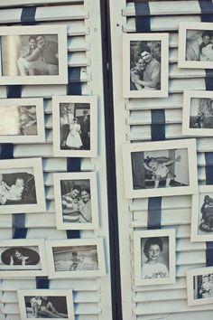 Amazing DIY idea for wedding reception (Image by Mimmo & Co.) Very cute way to display pictures. Wedding Reception Image, Wedding Rehearsal, Our Wedding Day, Diy Wedding, Wedding Ideas, Reception Ideas, Wedding Inspiration, Event Ideas, Wedding Pics