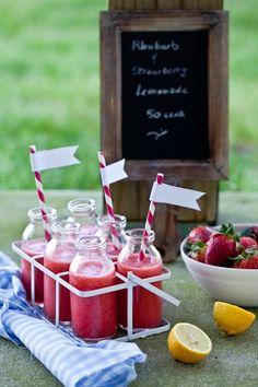 rhubarb and strawberry lemonade. msbrookeashley