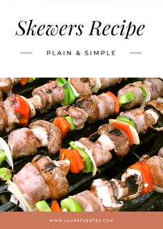 Learn how to make homemade grilled skewers - it's so easy! See how to keep your food from falling off the skewer and how to know when everything is perfectly cook - not burnt or raw! Vegan Gluten Free, Vegan Vegetarian, Grilled Skewers, Skewer Recipes, Bbq Rub, Grilled Vegetables, Kabobs, How To Make Homemade, Skinny Recipes