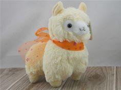 "Japan Amuse Arpakasso Alpacasso Alpaca Yellow Lovely 7"" Plush Doll"