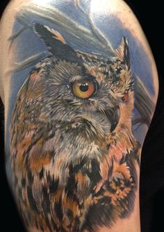 Owl tattoo for daddy