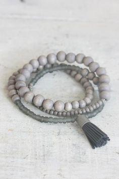Wooden Wrap Bracelet - Slate