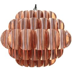 Vintage Copper Lamp Designed by Jo Hammerborg, Scandinavia | From a unique collection of antique and modern chandeliers and pendants  at http://www.1stdibs.com/furniture/lighting/chandeliers-pendant-lights/