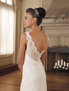 Mon Cheri 29246-Contessa Mon Cheri Bridal Collection. Beautiful outdoor wedding dress!! Would wear hair up to show off the beautiful back. : )
