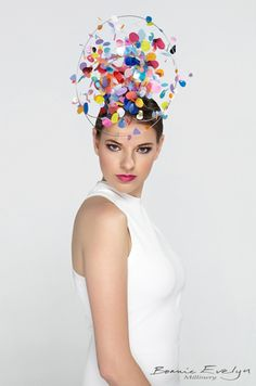 Confetti fun times hat! -Bonnie Evelyn Millinery 2015-