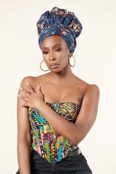 African Wear, African Dress, African Drawings, Turban Headbands, African Print Fashion, African Fabric, Headgear, Head Wraps, Captain Hat