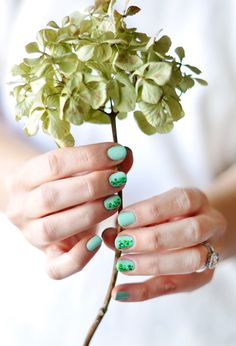 Minty Green Nails Perfect for St. Patrick's Day