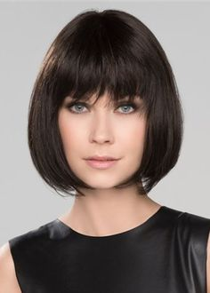 Ericdress Short Bob Hairstyles Womens Natural Looking Straight Synthetic Hair Wigs With Bangs Capless Wigs Up To Off. Shop Women's Fashion Shoes Buy More, Save More. Medium Bob Hairstyles, Hairstyles With Bangs, Straight Hairstyles, Graduated Bob Haircuts, Short Bob Haircuts, Line Bob Haircut, Chin Length Bob, Wigs With Bangs, Trending Hairstyles
