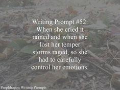 Here is a list of all my writing prompts. By the way if you write something inspired by any of them on your blog please send me a link I would love to read what you've written and reblog it. …