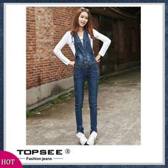 42.10$  Know more - http://ai4ki.worlditems.win/all/product.php?id=32648680621 - 2016 Fashion Slim Women Jeans Overalls Korean Casaul Plus Size Skinny Denim Pencil Pants Trousers Woman Clothing A3069
