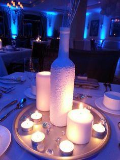 Winter wonderland NYE Party Epsom salt centerpiece #winterwonderland