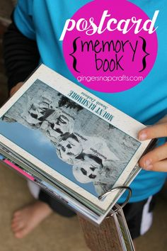 Ginger Snap Crafts: Postcard Memory Book {tutorial}