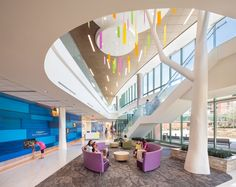 Top 40 Healthcare Giants of 2015 HKS, Ranked Project: Akron Children's Hospital, Kay Jewelers Pavilion. Location: Akron, OH. Photography by Blake Marvin. Atrium Design, Lobby Design, Clinic Design, Healthcare Design, Interior Design Magazine, Hospital Architecture, Lobby Interior, Tree Interior, Hospital Design