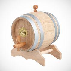 Zum Geburtstag lieber ungewöhnlich: Ein Personalisiertes Holzfass mit Plakette - Eichenfass mit Name, Datum und Initial. Ein edles Fässchen für einen edlen Tropfen.