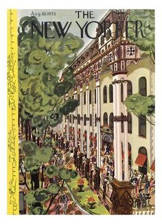 The New Yorker Cover - August 10, 1935 Regular Giclee Print by Arnold Hall at Art.com