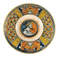 A plate, Deruta, first half of the 16th century - Maiolica Diametro cm 25