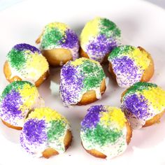Mardi Gras/Fat Tuesday Mini King Cakes [Carla Hall]