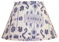 """Indigo Ikat 14"""" Empire Flare w/ Washer (14WF) for Accent Lamp"""