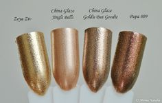 Zoya Ziv vs China Glaze Goldie But Goodie