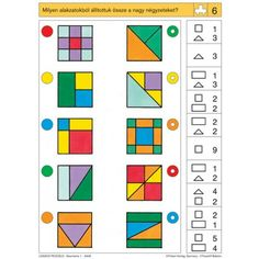 Preschool Math, Classroom Activities, Teaching Math, Learning Activities, Kids Learning, Iq Kids, Math For Kids, Visual Perception Activities, Special Education