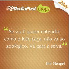 """""""Se você quiser entender como o leão caça, não vá ao zoológico. Vá para a selva."""" Jim Stengel #marketing #emailmarketing"""